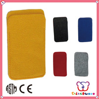 GSV certification fashion new style felt phone cover case