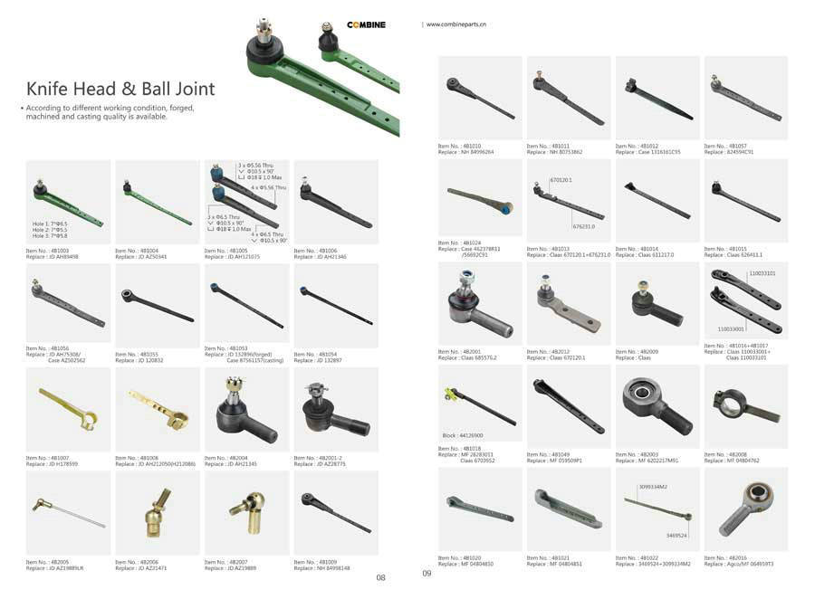 All kinds of harvester ball joint
