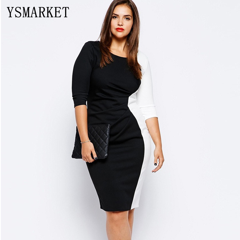 Plus Size 5XL 6XL Women Autumn Work Office Business  strong Color  strong 68bca3154e39