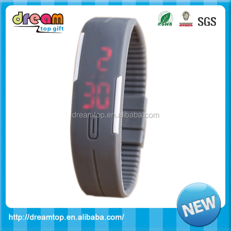 Wholesale custom digital LED waterproof silicon watch