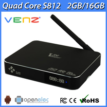 Venz V8 Amlogic S812 android tv box 4K H.265 dual band wifi AP6335 ac