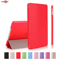 Luxury Smart Cover for iPad, Silk Pattern Three Folding Stand Leather Case Cover for iPad air/ 5
