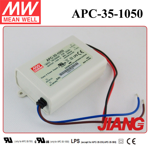 Meanwell LED Driver 35W 1050mA Constant Current APC-35-1050 Power Supply IP30 CE Approved