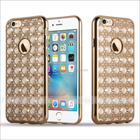 Plating Frame Shinning Bling Diamond Crystal Case Cover For Apple iPhone 6 6S