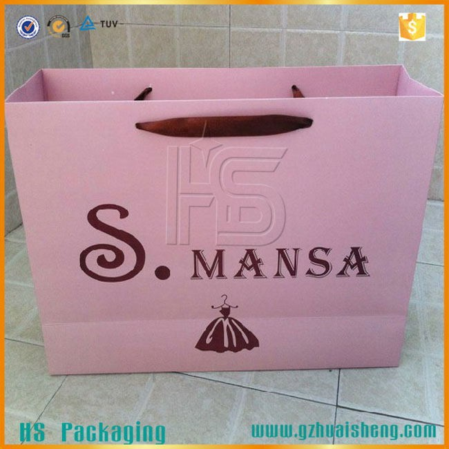 Handmade large paper shopping bag for cloth packaging