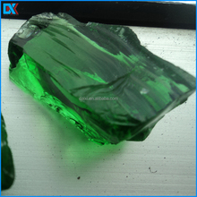 China Wholesale Light Green Color Glass Rocks