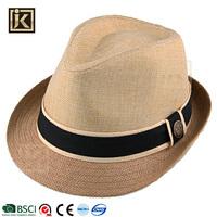 JAKIJAYI custom sombrero panama surf cheap paper men fedora straw trilby hat