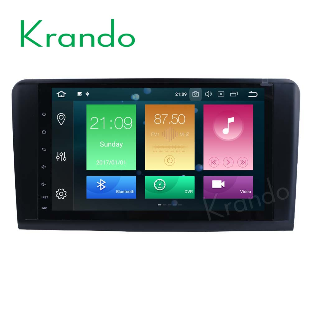 Krando <strong>car</strong> audio <strong>dvd</strong> player Android 8.0 9'' 8-core touch screen for Benz ML Class <strong>W164</strong> For Benz GL Class X164 radio KD-MB914