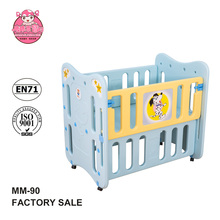 HOT sell High quality European Standard plastic baby folding travel bed for kids baby park crib