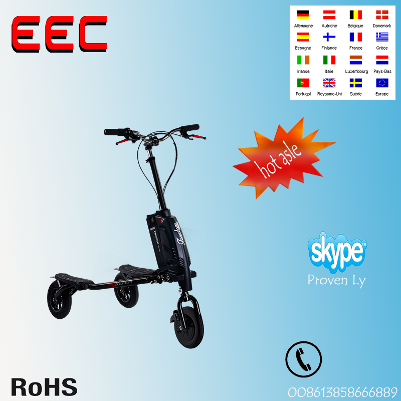 Standing Carving Trikke 3 Wheels Stand Up Electric Scooter 350w