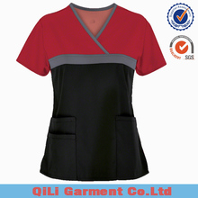 2017 new fashion Custom hospital uniform Top medical scrubs uniforms