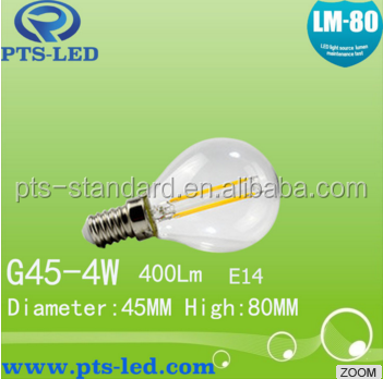 China Hot Sale PF>0.9 A60- 6.0W LED filament bulb E27 with CE,UL,ROHS