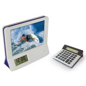 Photo frame and calculator