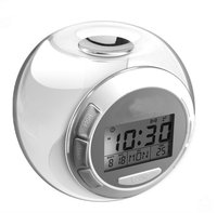 2013 Hot selling Color changing projection led alarm clock