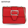 KA0062 Konpad Pu leather Red Shoulder bags Crossbody Bag Wallet Case Purse for Women Teen Girls