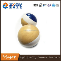 Dia100mm Large Rubber Wooden Round Ball for Sale