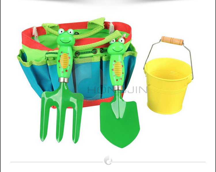 Hongjin safe plastic kids garden tools with bag view for Industrial garden tools
