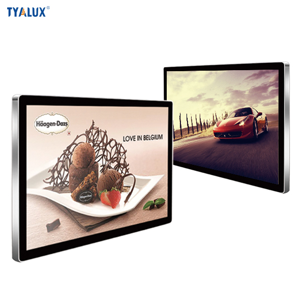 43inch max resolution 1080p hdmi/dvi/vga/dp input wall mounting lcd advertising player