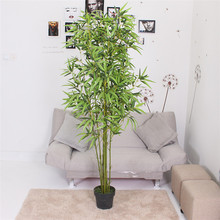Best selling 8 branches 180cm environmental home decoration evergreen artificial bamboo plants