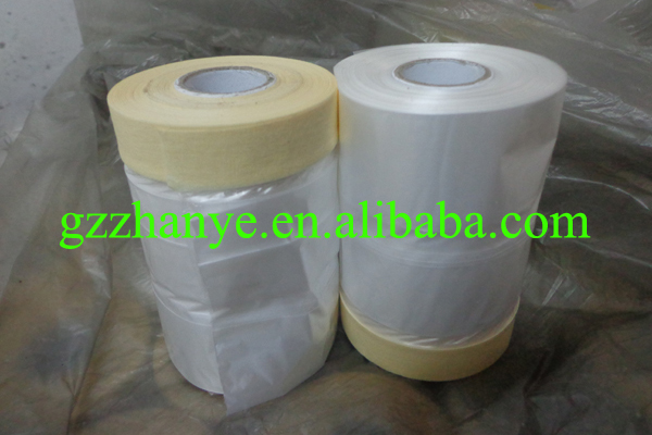 guangzhou factory 300mm*182m painting masking protection white kraft paper