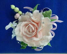 Handmade artificial paper clay flower for rose corsage and flower brooch