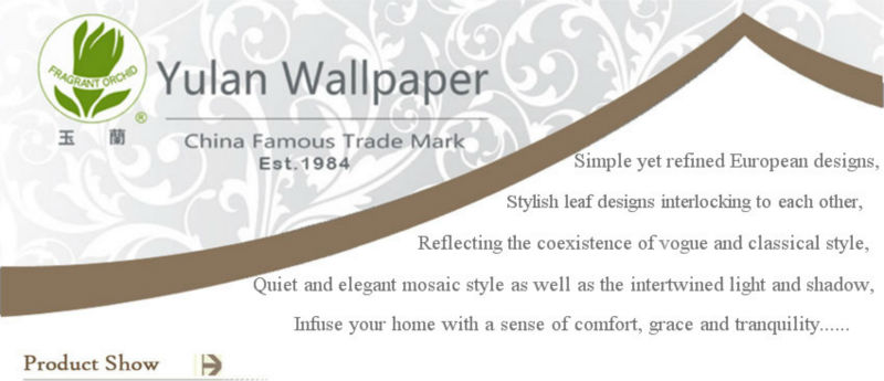 Modern & Classical Style Freshing Decorative Wallpaper for Restaurant