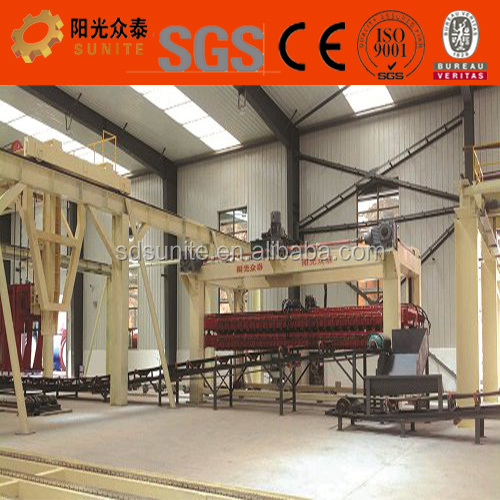2017 latest industrial technology for aac acc brick production line
