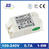 ES 9W 700mA 21V AC-DC Constant Current LED Driver Power Supply with CE CB TUV ROHS
