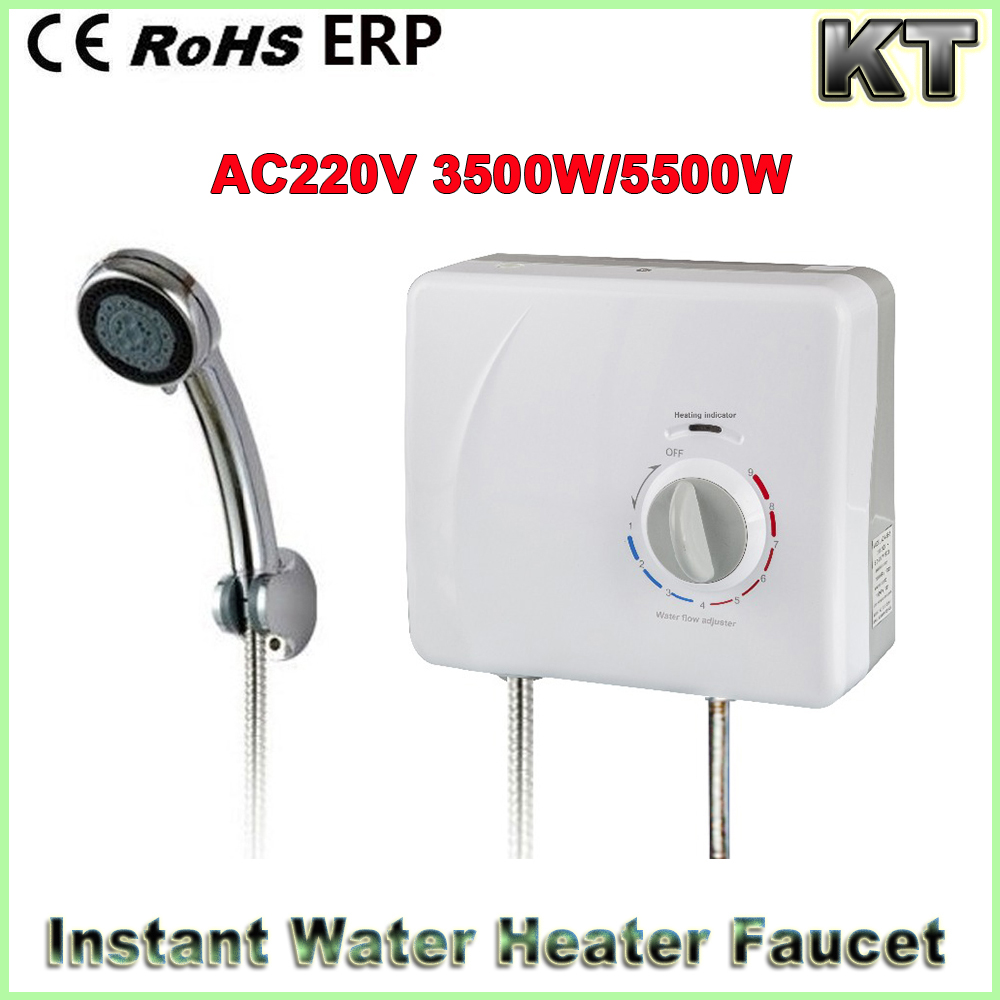 220V 4500W Mini Instant Electric Tankless Hot Water Heater for shower