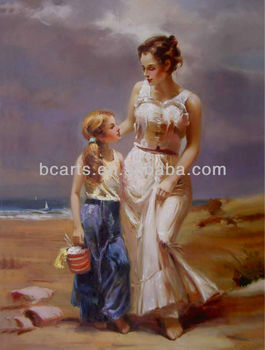 BC13-0301 Blond Hair Woman Paintings