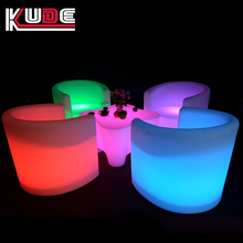 Wholesale PE led furniture 16 colors changing light up china furniture sofa outdoor garden furniture