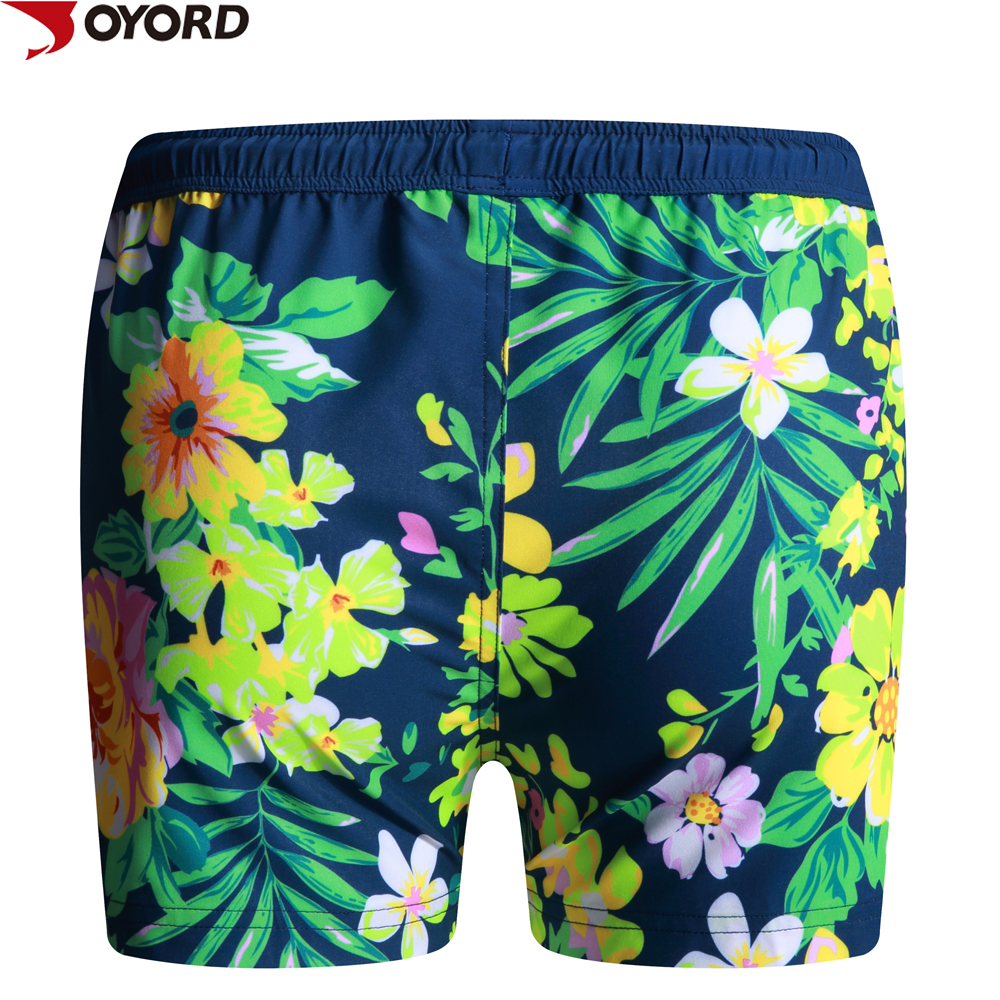 Girls Patterned Sexy Swimming Shorts with Sublimaiton Black