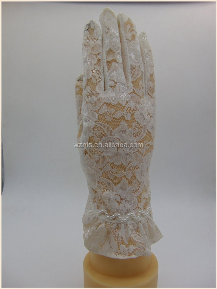 Sexy Ladies summer lace car driving gloves