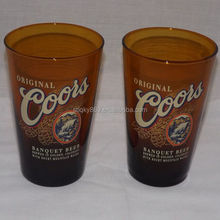 lyT1607 Advertising Color Glass Tumbler Brown Glassware Colored Glassware Tumbler16oz Cups Wholesale Colored Glassware