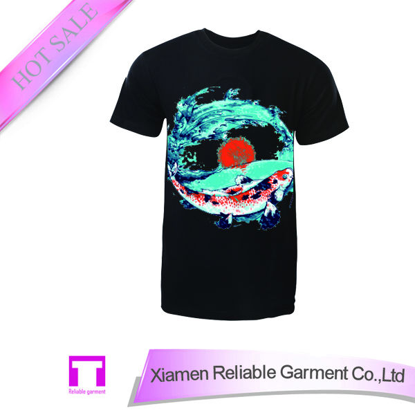 Wholesale fashion blank printing kids led sound activated t-shirts