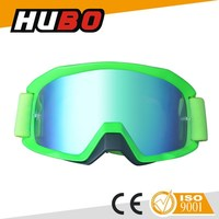 Fashion mirrored lens motorcross motorcycle goggles mx fit with helmet