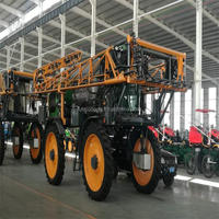 Self propelled boom mounted sprayer