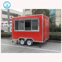 Top rated camper van/restaurant service cart/fast food truck with CE approval
