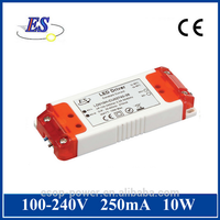 10W 250mA 40V AC-DC constant current LED Driver power supply with CE