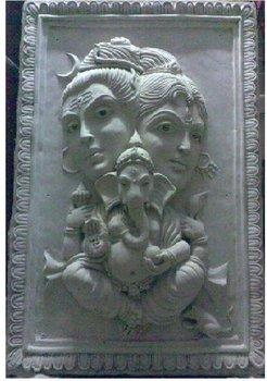 Fiber Glass Terracotta Mural Sculpture Buy Sibha Ganesha