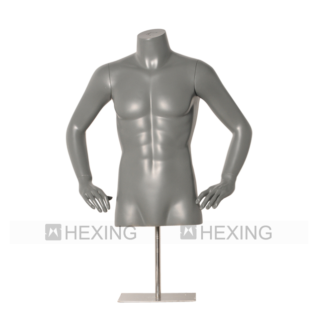 Strong Men Upper Body Fiberglass Torso Bust Male Mannequin