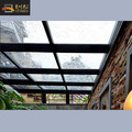 Aluminum frame double glass top inground pation sun room