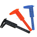 3inch 80mm Mini Plastic Ruler Sliding Vernier Caliper Gauge Measure Tools