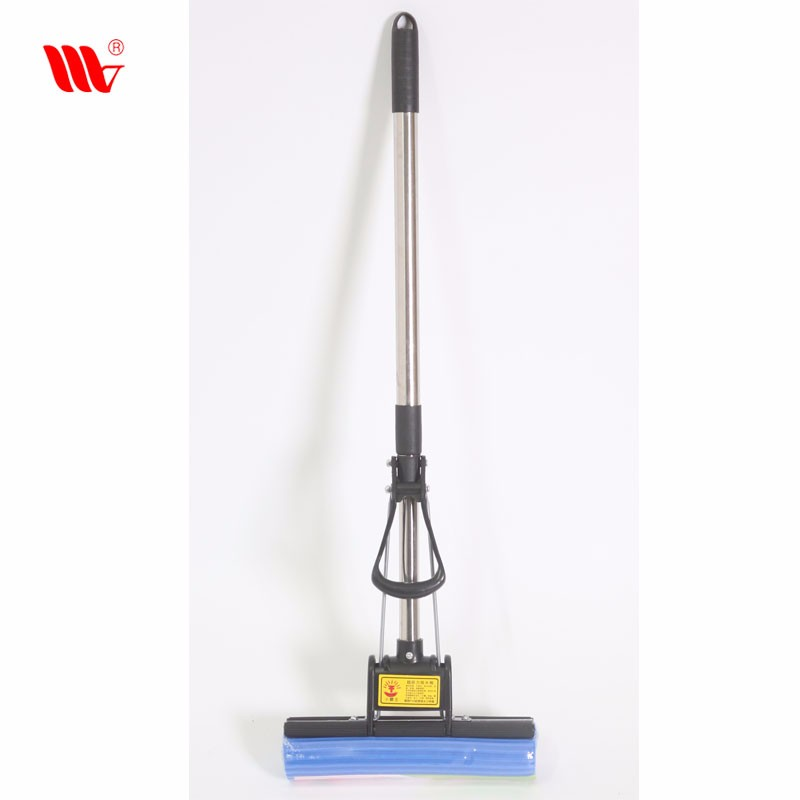 Weijie Traditional Small Size Blue Sponge Water Absorbing Telescopic Foam PVA Sponge Mop Roller Water Squeeze Mop