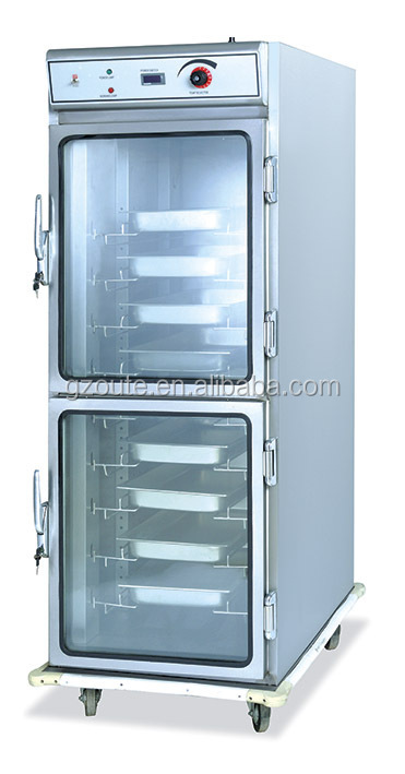 Commercial Luxury CE Certification Electric Food Warmer 10 trays Mobile Food Warmer Carts With Cabinet(OT-10B-21)