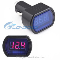 LED Display Electric Battery Car Cigarette Lighter And Voltmeter Digital 12v-24v