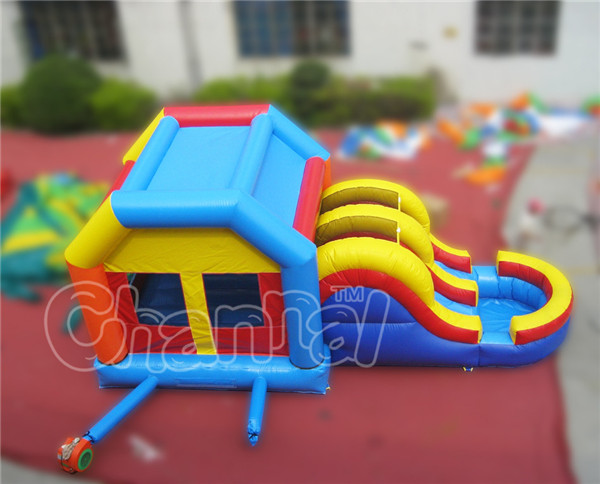 Festival slide bouncy castle inflatable bouncer combo with pool