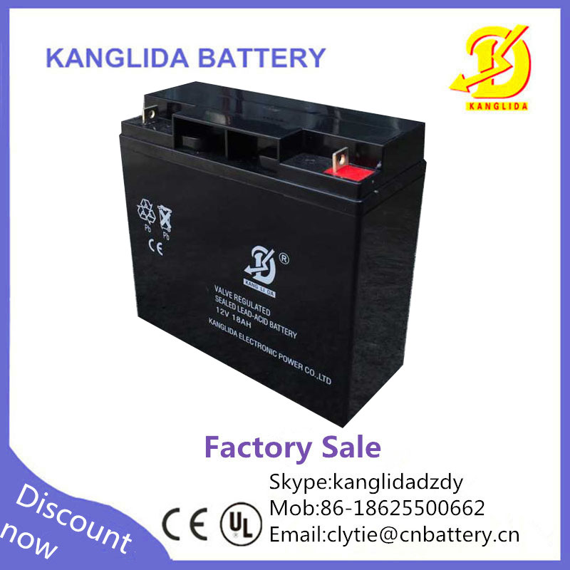 rechargeable 12v 18ah sealed lead acid battery