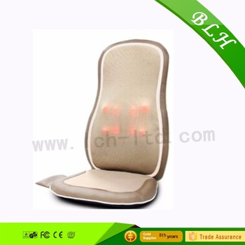 BLH 2016 new release factory shiatsu kneading and rolling vibration Massager cushion with infrared heat for car seat BLH-B00101