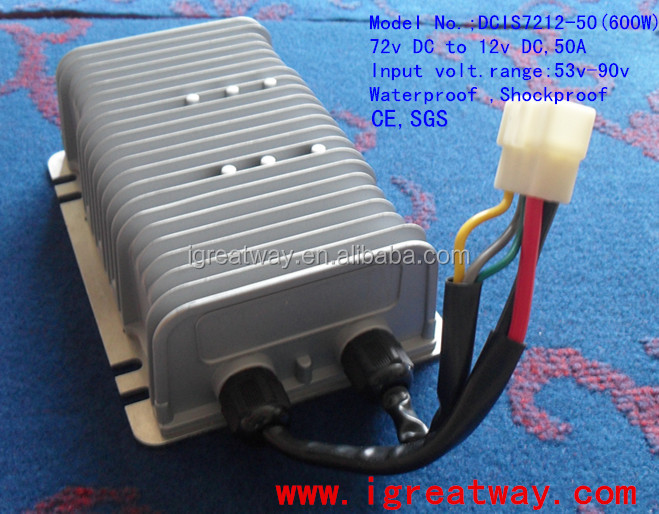 waterproof Isolated 72v to 12v,50A <strong>dc</strong> to <strong>dc</strong> converter 600W